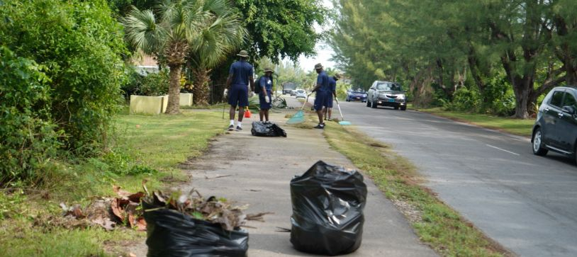 RBDF Recruits Clean Up Coral Harbour
