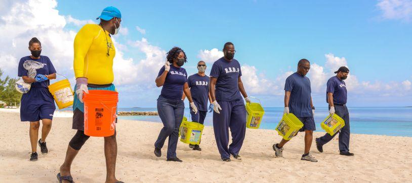 RBDF Ship Crew participates in Environmental Clean-up Effort