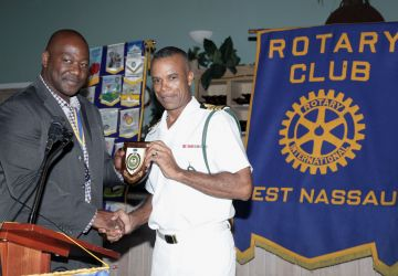 Acting Commander Defence Force Makes Presentation to the Rotarians of the Rotary Club West Nassau