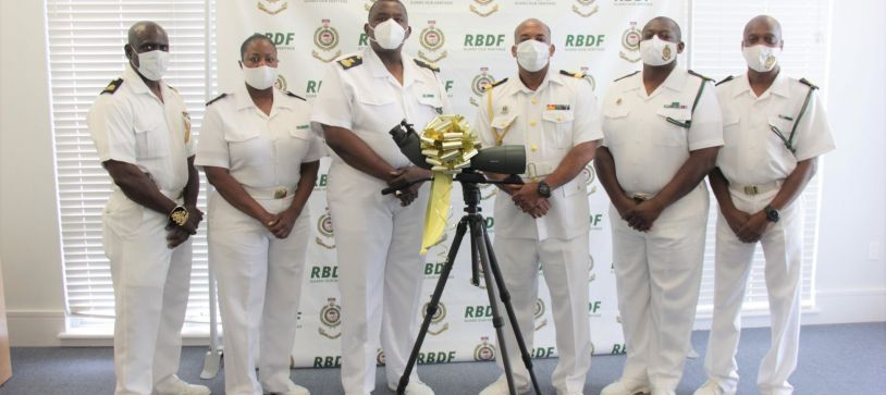 RBDF Warrant Officers and Senior Rates Executive Members pay Courtesy Call on Commander Defence Force