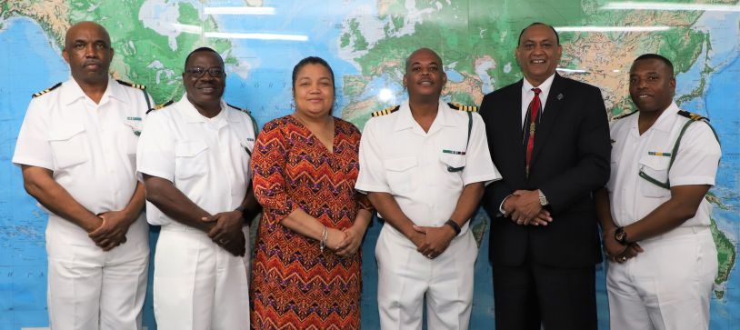 St. Augustine's University President makes Courtesy Call on the Acting Commander Defence Force