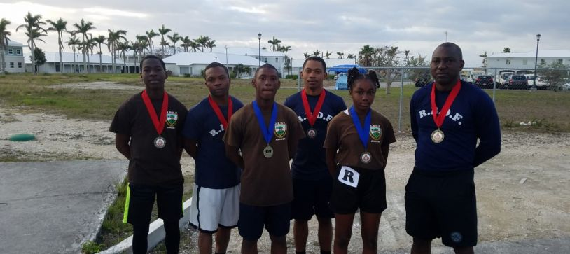 Defence Force participates in Police Sporting Events in Grand Bahama