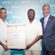 RBDF Commodore makes presentation to BTC CEO