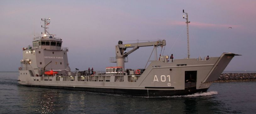 MV Tropic Tide Crashes in HMBS Lawrence Major Docked in Suriname Undergoing Maintenance Repairs