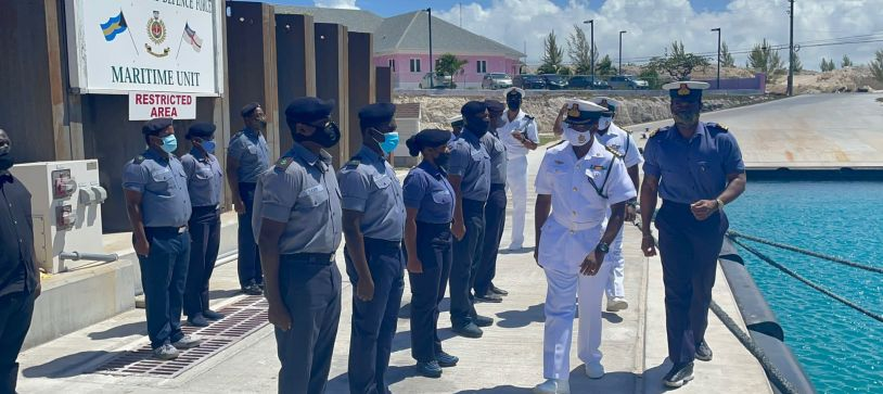 RBDF Deputy Commander Defence Force Visits Troops in SOUTHERN COMMAND