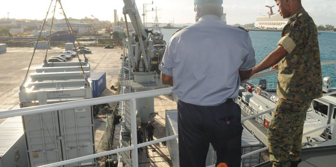 Royal Bahamas Defence Force Deploys Mobile Base City