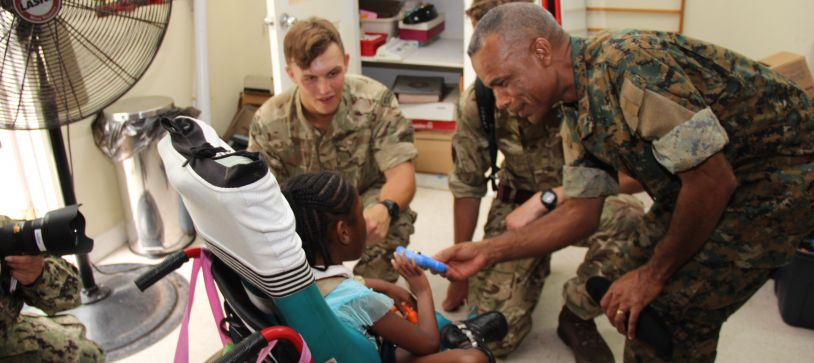 Tradewinds Troops reaches Out to Kids in Community Work