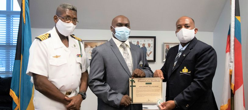 Commander Defence Force Thanks Police Officers