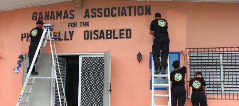 Tradewinds Troops perform Charitable Work at School for Disability