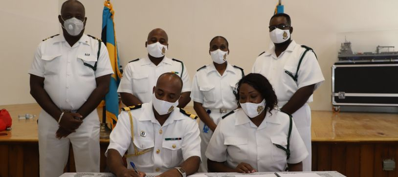 Commander Defence Force Signs Bylaws for RBDF Junior Rates Mess