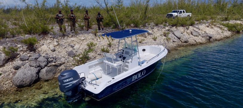 RBDF Recovers Stolen Vessel with RBDF Drone