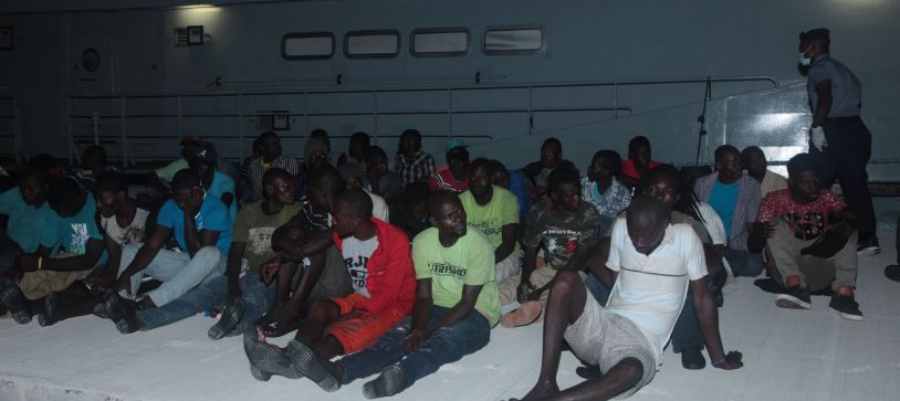 Defence Force Marines apprehend Haitian Migrants
