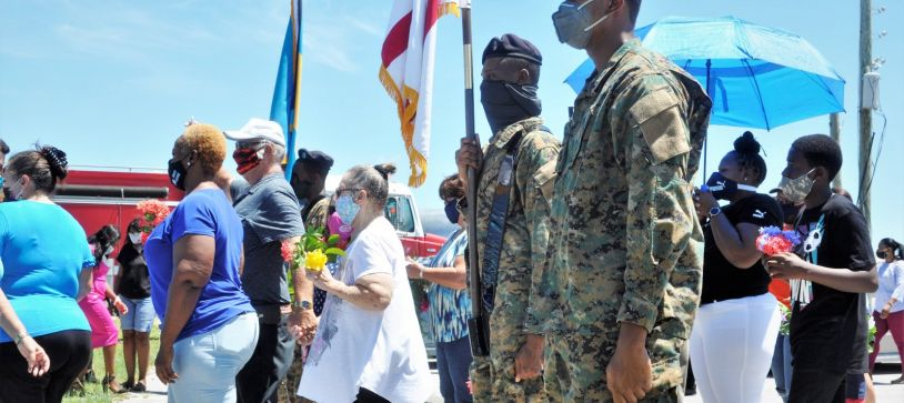 RBDF joins Abaco community in Tribute to Victims of Hurricane Dorian