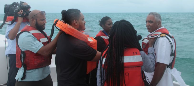 Defence Force Takes Press on Tour of New Providence Coastline
