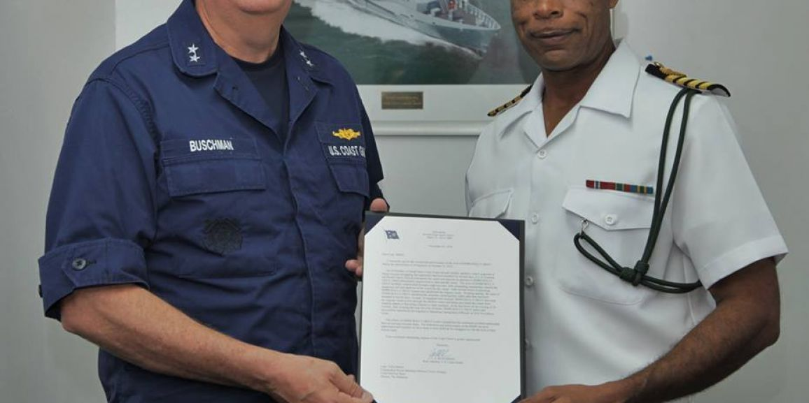 DEFENCE FORCE RECEIVES COMMENDATION LETTER FROM COMMANDER U.S .COAST GUARD SEVENTH DISTRICT