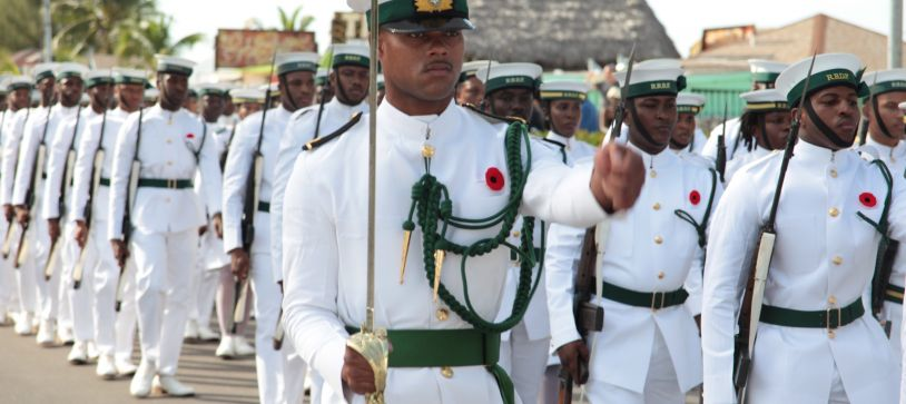 Defence Force participates in Wreath Laying Ceremony in Rawson Square