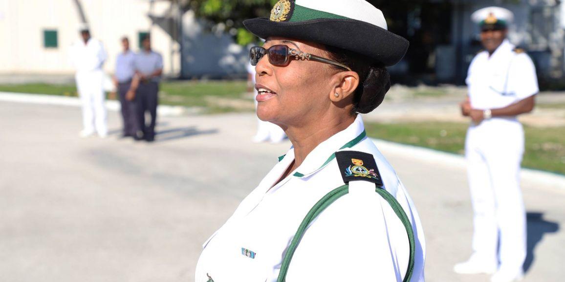 FIRST FEMALE WARRANT OFFICER RETIRES