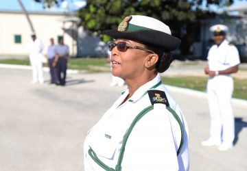 FIRST FEMALE WARRANT OFFICER RETIRES