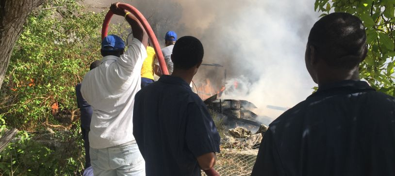 Defence Force Help Inagua Community Extinguish Fire