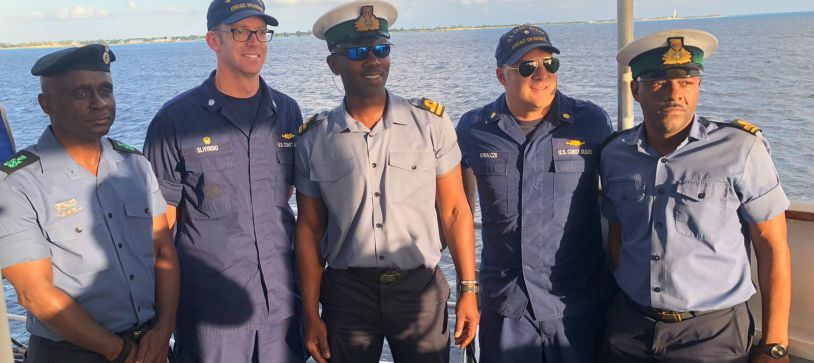RBDF Officer makes Courtesy Call Aboard USCG Cutter