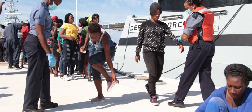 RBDF Apprehends Haitian Sloop with migrants