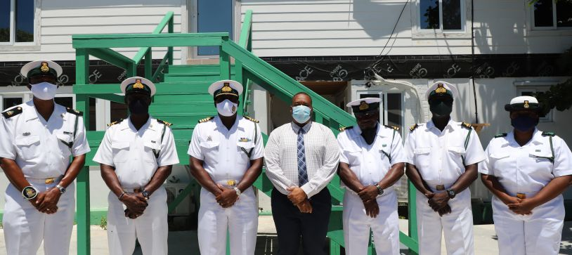 RBDF Southern Command Captain visits Inagua Base