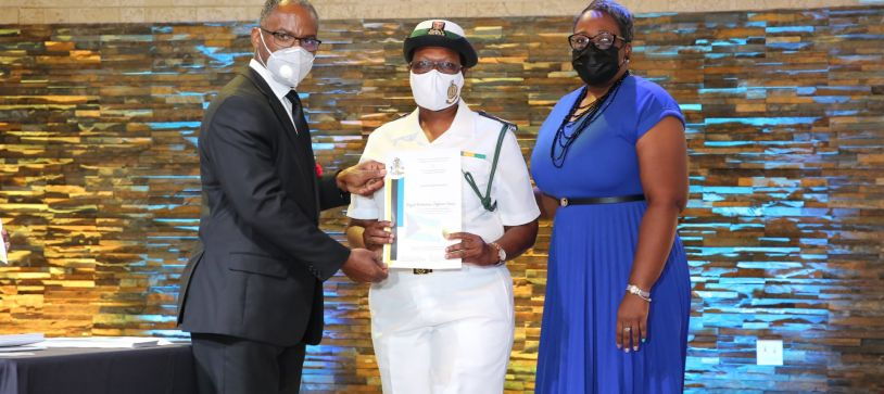 RBDF Personnel receive Certificates for Efforts during Hurricane