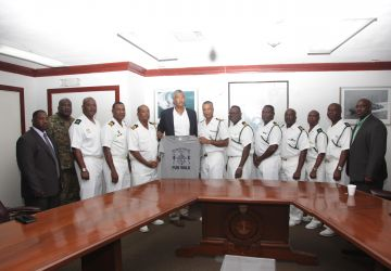Entry 19 pays courtesy call on Commander Defence Force (Acting)