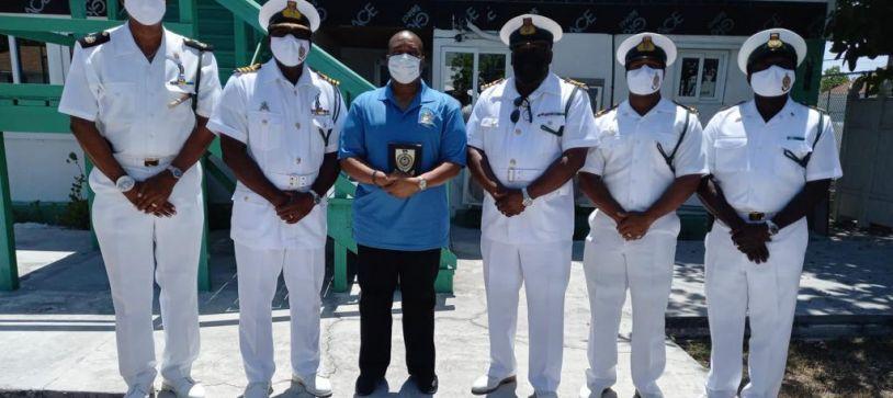 RBDF Captain tours Satellite Base