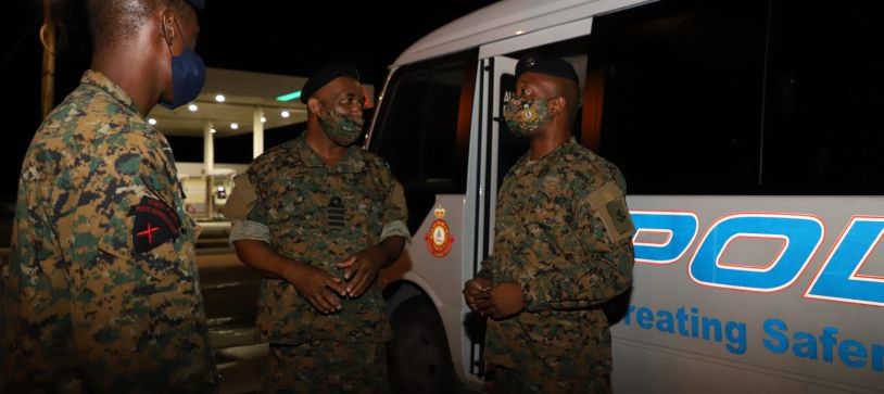 RBDF Captain encourages Marines working Curfew
