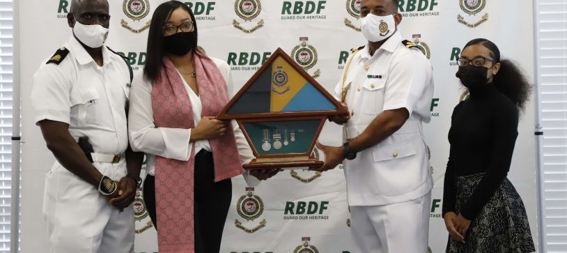 RBDF Presents Flags to Families of Fallen Marines