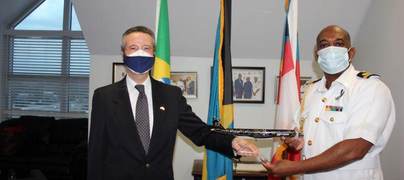 Brazil Ambassador pays Courtesy Call on Commander Defence Force