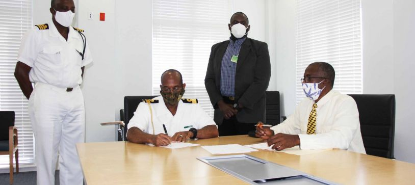 The Royal Bahamas Defence Force signs onto the Aircraft Accident Investigation Authority of The Bahamas