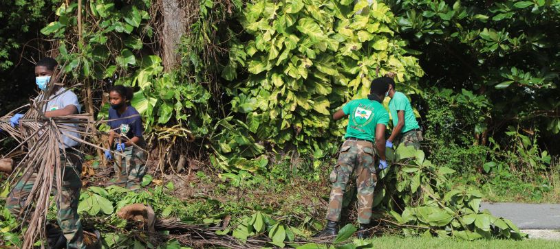 RBDF Rangers Cleans Up Coral Harbour