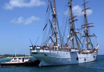 United States Coast Guard Cutter Eagle Makes Courtesy Call