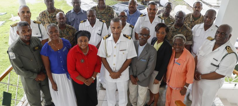 British Legion Executives Pay Courtesy Call on The Commander Defence Force